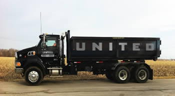 truck for dumpster rentals in Aurora, Illinois